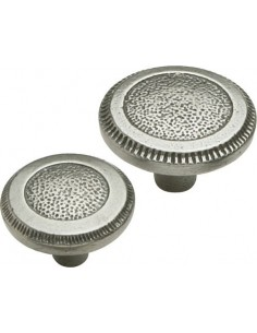 Modern Classic Hammered Knob Cast Iron Finish 2 Sizes