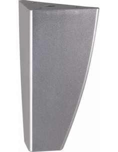 X4 Furniture Decorative Leg, Support Foot 125mm Silver-Mat Nickel