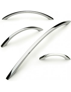 Modern Bow Handle 64-288mm Centres Polished Chrome Finish 4 Sizes