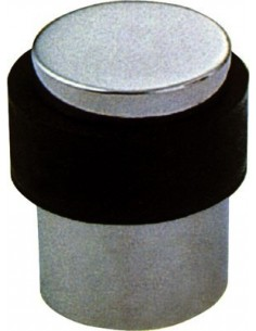 Door Stop Cylindrical Floor Fix 40mm High x 35mm Stainless/Satin Finish