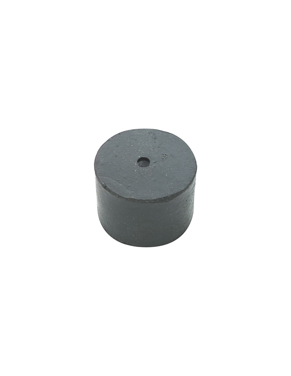 Basic Rubber Door Stop Floor Fix 34mm Black
