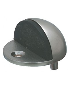 Door Stop Floor Mounted 45mm Dia Stainless Steel Rubber Buffer