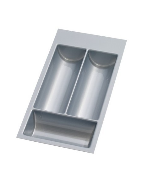Cutlery Trays Silver Grey Formed