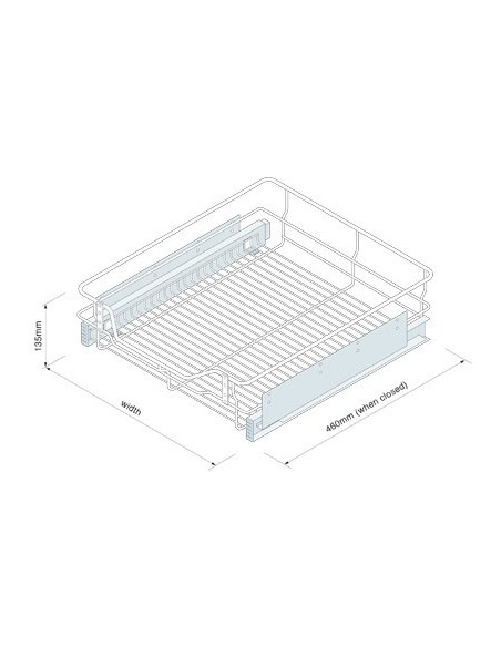 Individual Pull Out Baskets 300 to 1000mm Options