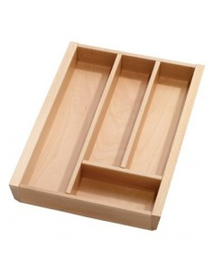 Solid Beech Cutlery Tray 450mm Depth For Blum Tandembox