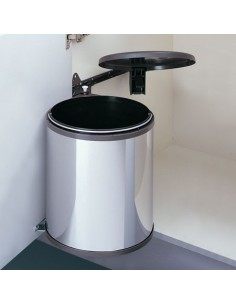 Big Box Round Waste Bin 20 Litres Side Mounted Stainless Steel