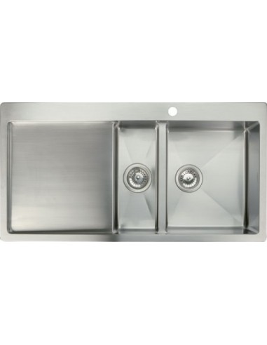 quality stainless steel kitchen sinks modern square 1 5 bowl kitchen sink amp tap pack save 163 23 7618