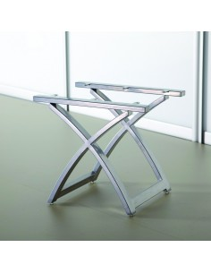 Bedroom Dressing Table Stool Base Metallic Grey Frame Assembled