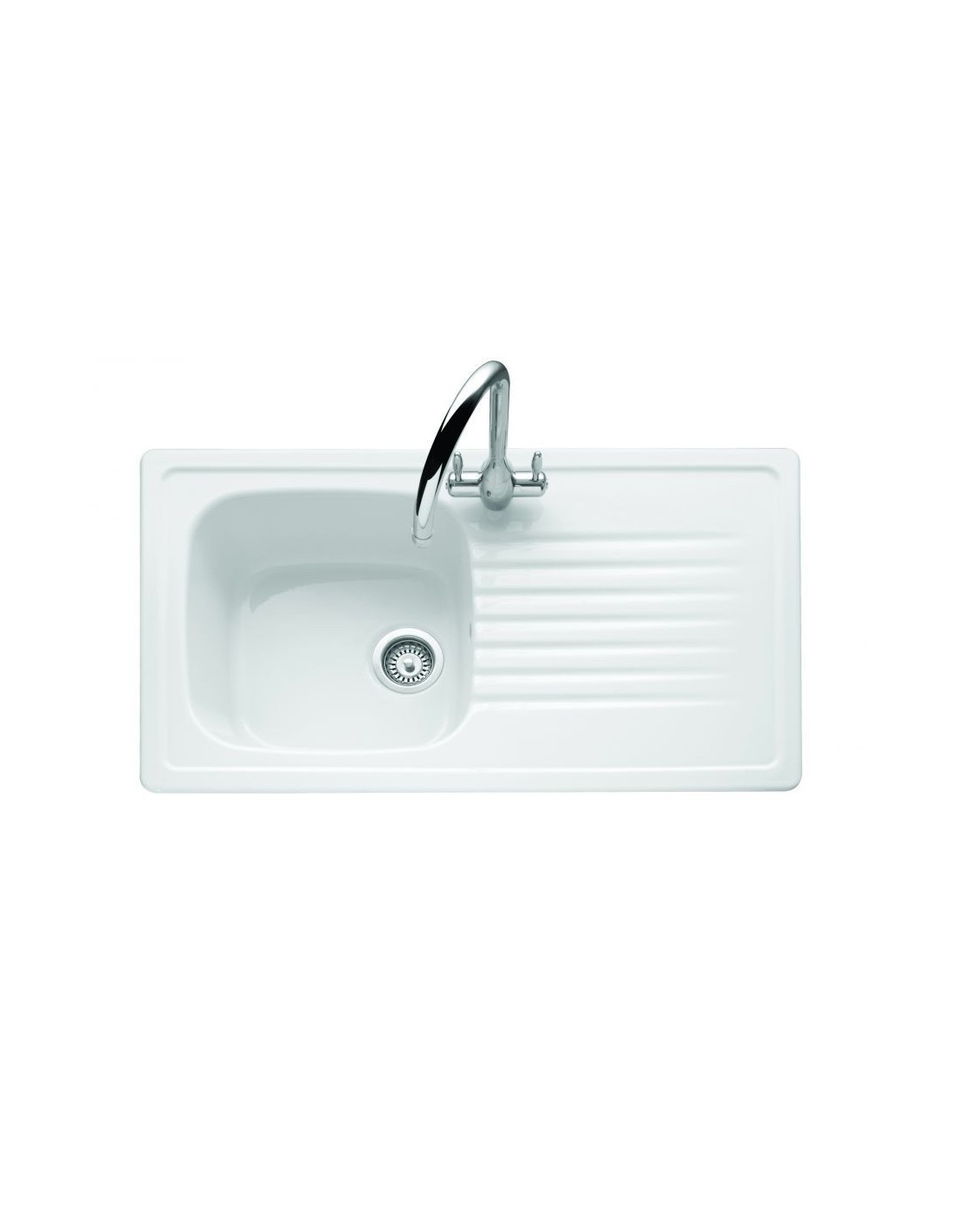 Ceramic Kitchen Sink With Drainer : ... & Boch Medici Ceramic White Kitchen Sink. Single Bowl & Drainer