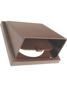 "Extractor Van Cowled Wall Vent 4""5""6"" Brown Or White None Return Wind Cowl"