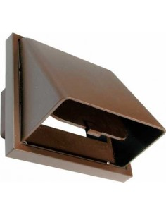 "Cowled Wall Vent Rectangular Spigot 4"" 100mm None Return & Wind Cowl"