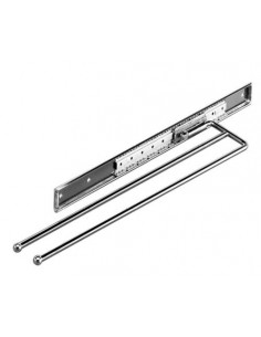 Double Telecopic Towel Rail Polished Chrome Steel Pull Out