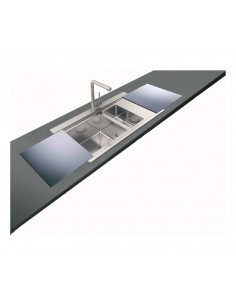 Clearwater Glacier Single Bowl Kitchen Sink & FREE Glass Cover Boards