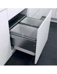 Vauth Sagel Oko Liner Pull Out Waste Bin 450mm Unit Steel, Door Fixed Softclosing