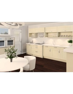 Ivory Shaker Kitchen Door Fascia U104 Curved Units & Accessories