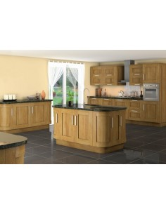 Westwood Natural Oak Timber Shaker Kitchen Doors Solid One Peice Frame
