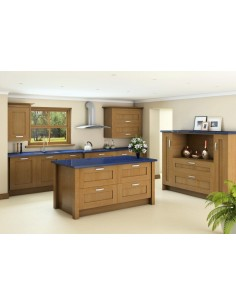 Westwood Oak Timber Shaker Kitchen Doors Solid One Peice Frame