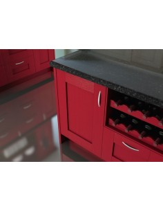 Westwood Oak Timber Shaker Kitchen Doors Painted Red