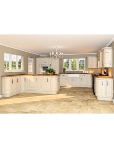 Gainsborough In frame Timber Kitchen Doors Shaker Style Alabaster
