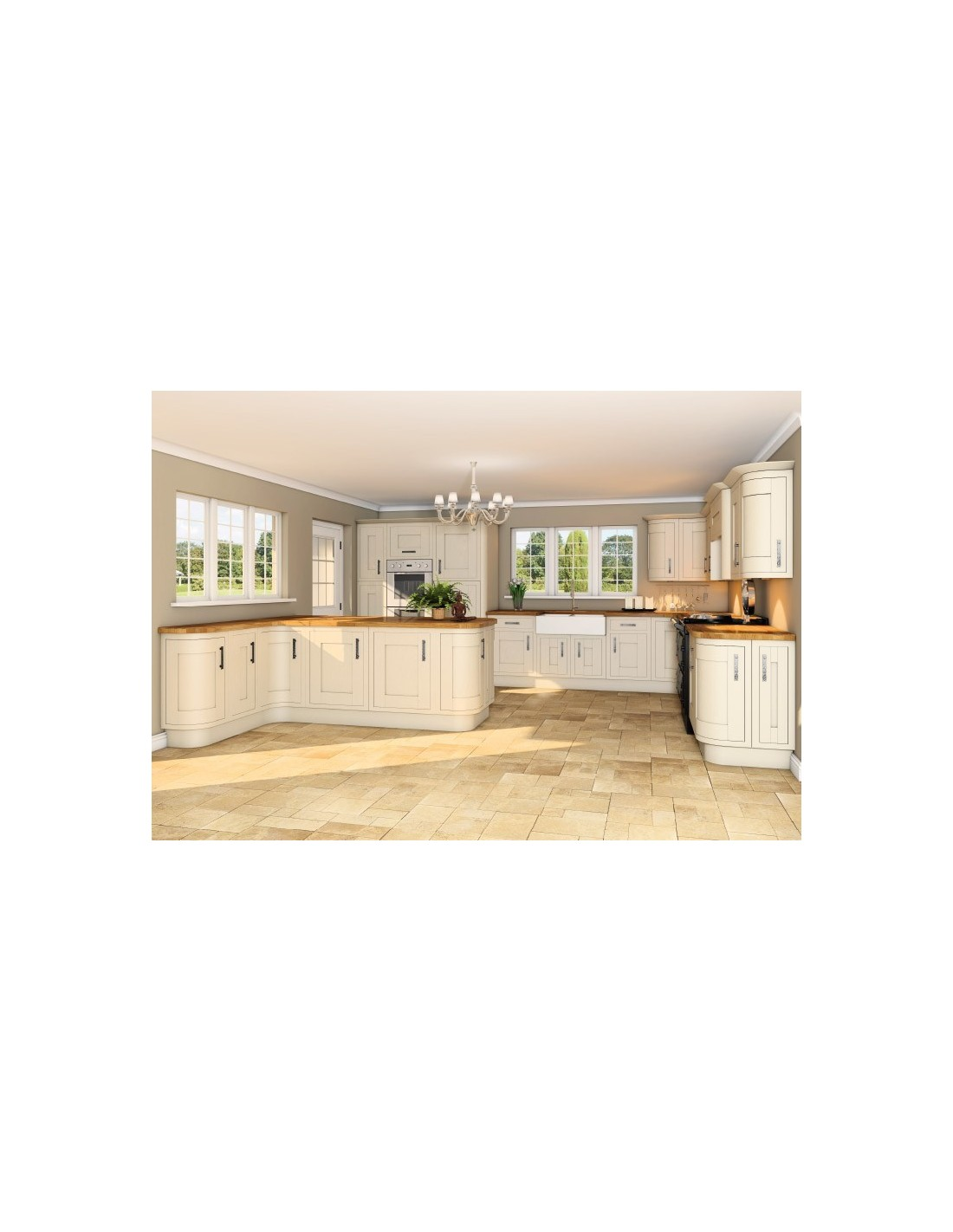 Gainsborough doors gainsborough angular satin chrome for Country style kitchen doors