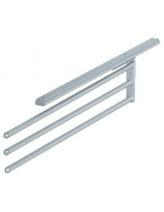 Towel Rail Three Arm Aluminium Silver Finish Telescopic