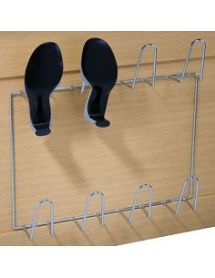 Shoe Rack Chrome For Four Pairs, Ideal Inside Wardrobes Or Cudboards