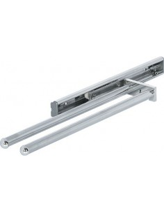 Aluminium Towel Rail Telescopic Pull Out Double Arm Polished Chrome