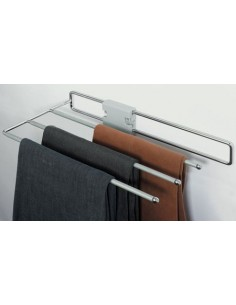 Pull Out Trouser Rack Chrome For Wardrobe Screw Fixing