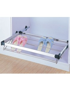 Bedroom Pull Out Shoe rack Side Fixing 400-1000mm Widths