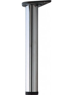 Table Support Legs 375mm High 60mm Diameter Silver RAL9006