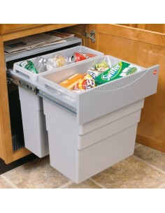 Easy Cargo Waste Bin 49 Litres Hinged Door 500mm + Units Grey