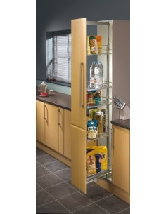 300mm Pull Out Larder Unit 1950-2200mm Centre Mount Chrome