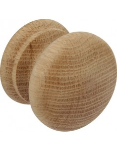 Wooden Knobs 49mm Diameter Beech, Maple & Oak Finish