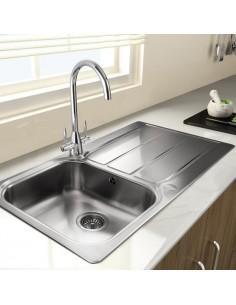 Rangemaster Glendale GL9501/02 Stainless Steel Sink 1.0/1.5 & Waste