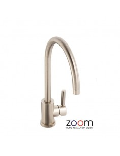 ZP1047 Abode Atlas Kitchen Tap Single Lever Monobloc Brushed Nickel Finish