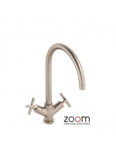 ZP1051 Abode Antila Kitchen Tap Single Lever Monobloc Brushed Nickel Finish