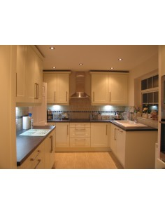 Kitchen Cologne Ivory, Solok Surf Worktops, New Appliances