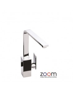 ZP1063 Abode New Media Kitchen Tap Single Lever Monobloc Chrome  Finish