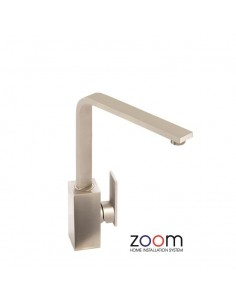 ZP1064 Abode New Media Kitchen Tap Single Lever Monobloc Brushed Nickel Finish