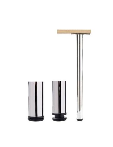 Breakfast/table Support Leg Chrome 710mm x 60mm