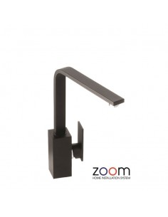 ZP1065 Abode New Media Kitchen Tap Single Lever Monobloc Granite Black Finish