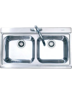 Sterling Mirage MIR200 Stainless Steel Double Bowl Sink