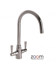 ZP1003 Abode Bellagio Kitchen Tap Monobloc Chrome Twin Levers