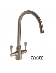 ZP1004 Abode Bellagio Kitchen Tap Monobloc Brushed Nickel Twin Levers