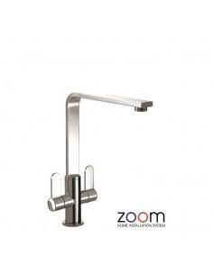 ZP1025 Abode Vito Kitchen Tap Monobloc Chrome Twin Levers