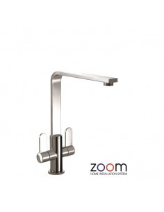ZP1025 Abode Vito Kitchen Tap Monobloc Chrome Twin Levers