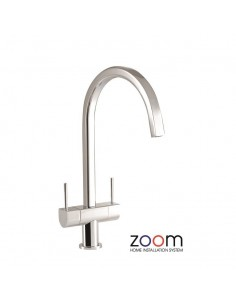 ZP1029 Abode Stelvio Kitchen Tap Monobloc Chrome Twin Levers