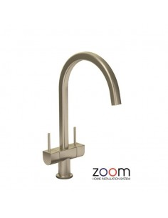 ZP1030 Abode Stelvio Kitchen Tap Monobloc Brushed Nickel Twin Levers
