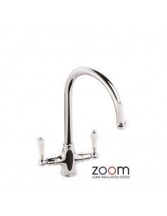 ZP1035 Abode Ludlow Kitchen Tap Monobloc Chrome Twin Levers