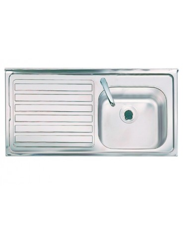 Contract Stainless Steel Kitchen Sink Single Bowl 1 Tap hole